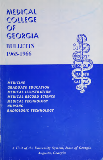 Bulletin: The Medical College of Georgia, 1965-1966